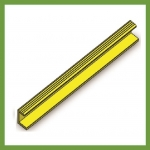 Series 13 Grating End Bar - Yellow